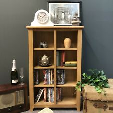 Grange Oak DVD Storage Shelves / Tall Bookcase Solid Wood Bookshelf / Display