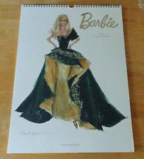 BARBIE Fashion Model 2012 Wall CALENDAR Graphique Robert Best Mattel 2011 Large