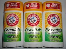 Lot of 3 Arm and Hammer Essentials Deodorants Full size 2.5 oz. each