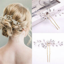 Fashion Wedding Bridal Hair Accessories Pearl Flower Hair Stick Pin Jewelry New