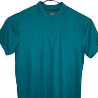 New Under Armour Mens Polo Golf Shirt 3XL Green HeatGear Short Sleeve Polyester