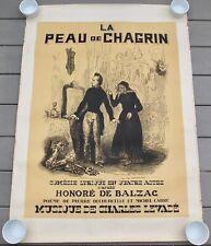 """Original 1855 """"La Peau De Chagrin"""" Honore De Balzac Opera Poster 41"""" X 29 1/2"""""""