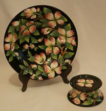 """J. McCall For Blue Sky Bowl / Cake Stand """"Icing on the Cake� Flowers 2005"""