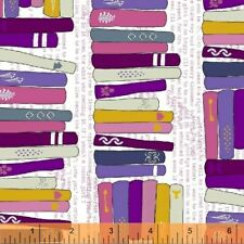 By 1/2 Yard ~ Windham Fabric Literary On the Shelf Romance ~ Library Books Read