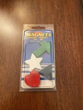 Colorful Magnets 4 In Each Package Great For Holding Project Pictures Etc.