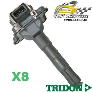 TRIDON IGNITION COIL x8 FOR Audi  A8 10/96-06/00, V8, 3.7L AEW