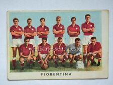 VECCHIA FIGURINA RASA calcio football 1961 FIORENTINA squadra Firenze