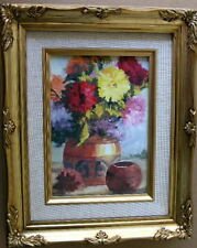 "Framed Oil Painting ""Floral-N11"" 9x11 in."