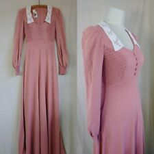 Vintage 1970's Gunne Sax Style Knit Maxi Dress. 1970's does 1930's tall dress, S
