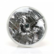 7 Inch Round Halogen Semi Sealed H4 Crystal Clear Amber Headlight Conversion