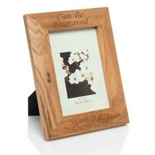"Personalised 5""x7"" Oak Photo Frame - Laser Engraved."