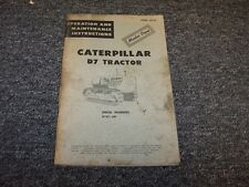 CAT Caterpillar D7 Dozer Crawler Tractor Owner Operator Maintenance Manual Book