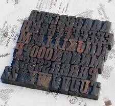 "A-Z alphabet 1.42"" letterpress wooden printing blocks wood type Vintage print"