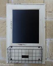 Memoboard mit Tafel und Korb 19.008.01 Küche Landhaus Vintage Shabby Küchenregal