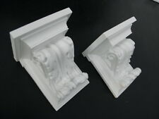 Pair of Plaster Corbels, LOOK AT THE VIDEO in description , Scroll, Shelf