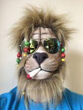 Rasta Lion Masque Latex Perruque Faux Joint Dreadlocks Déguisement Halloween