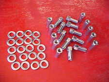 set of 20,1/2-1 & 3/8 long mag wheel lug nuts/washers,weld/others,NHRA OPEN END