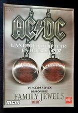 Publicité advert concert album clips advertising AC/DC 2005 Dvd Family Jewels