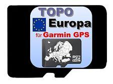 TOPO Europa Karte microSD für Garmin Geräte Freizeitkarte Radfahren Navi Biken