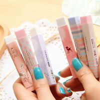 Elegant Long Cleansing Drawing Painting Rubber Eraser Stationary Gift Vh