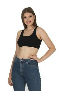 New ladies Strappy Sleeveless womens Camisole Bralet Crop Stretch Vest Top 6053