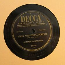 CARMEN CAVALLARO / STRAS AND STRIPES FOREVER / TWO MINUTE WALTZ / 78 RPM