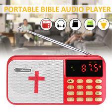 Portable Bible Audio MP3 Player Speaker Dual TF Card Port FM Radio