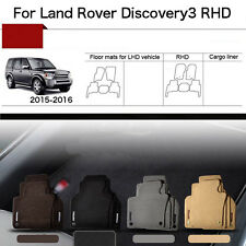 """Full Set 1/2""""Thick Solid Nylon Interior Floor Carpet Mats For RHD Discovery 3"""