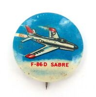 .VINTAGE F-86 D SABRE FIGHTER JET BADGE.
