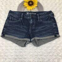 Bullhead Womens Jean Shorts Size 7 Stretch Dark Blue Denim MQ3305