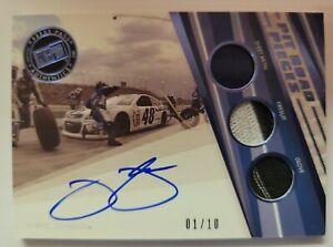 2014 Press Pass Jimmie Johnson Auto 3X Glove Suit Glove Race-Used Card /10 1/1