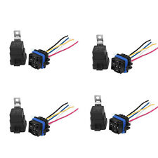 4PCS Waterproof Auto 12V DC 40A 5PIN Relay & Socket For Car Alarm Truck Release