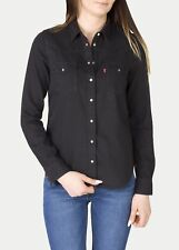 LEVIS WOMAN'S CLASSIC WESTERN SHIRT - BLACK INK. MEDIUM, New with tags