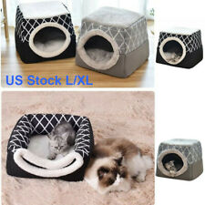 Dog Cat House Tent Cave Bed Removable Pet Kennel Puppy Soft Foldable Fashion New