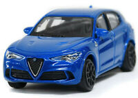 ALFA ROMEO STELVIO 1:43 Car NEW Model Diecast Models Die Cast Metal Blue