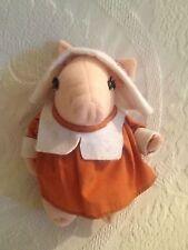 "Rare 8"" Applause VTG 1984 Betty Kane Plush Stuffed Pilgrim Pink Pig"