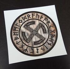 Viking Sun Wheel Sticker / Decal, Thor, Norse, Pagan, Fylfot, Slavic, Celtic