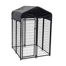 New listing Lucky Dog Uptown 4 x 4 x 6 Ft Covered Kennel Heavy Duty Dog Cage Pen (For Parts)