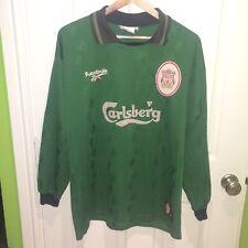 Men's Vintage 1996 - 1997 Liverpool Goalkeeper Shirt ( L ) 96 98 Home Away Kit