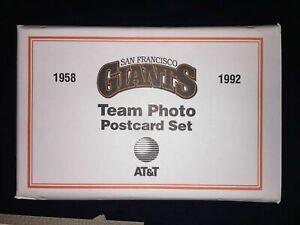 SF Giants 1992 Team Photo Postcard Set SGA