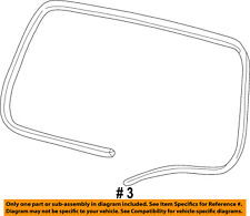 Jeep CHRYSLER OEM 99-04 Grand Cherokee Lift Gate-Weatherstrip Seal 55363160AD