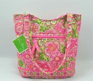 Nwt's Vera Bradley Petal Pink Green Bucket Tote Shoulder Bag