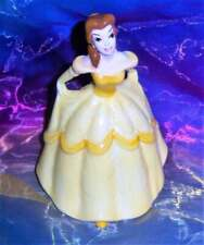Retired Vintage Japan Disney Beauty And The Beast Belle Gold Ballgown Figurine