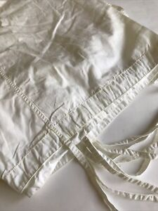 Pottery Barn Teen Shower Curtain 72 x 72 White Tie Top Pockets PB