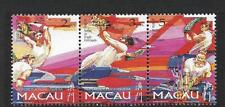 CHINA MACAU, 1997, DRUNKEN DRAGON FESTIVAL, SG 988-90, MNH, STRIP 3, CAT 2 GBP