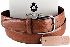 NWT 350$ FRATELLI NOVIELLO BELT Ayers snakeskin caramel python Italy eu110 us 43