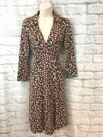 Diane von Furstenberg Women's Duenne Abstract Print Silk 3/4 Sleeve Wrap Dress 2