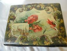 Antique Vintage Victorian Celluloid Photo Album Velvet Spine Working Clasp