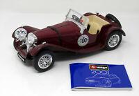 Modell 1:18  Jaguar SS 1000 dunkelrot Mille Miglia 1937 #100 BBurago in OVP