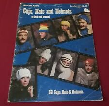 Vintage 1978 Caps Hats And Helmets Knit Crochet Patterns Leisure Arts Lflt 131